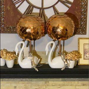Oh Joy! Collaboration Rose Gold White Swan Lamp
